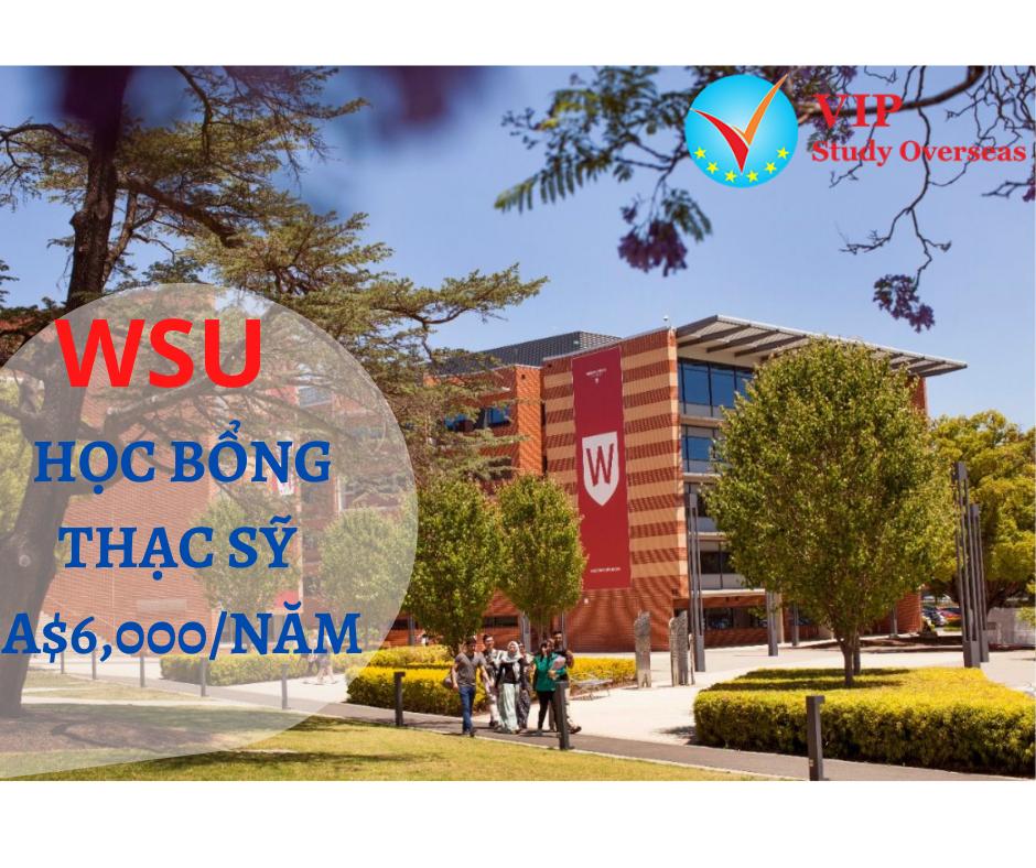 Học bổng thạc sỹ 12.000 AUD từ Đại học Western Sydney, Úc